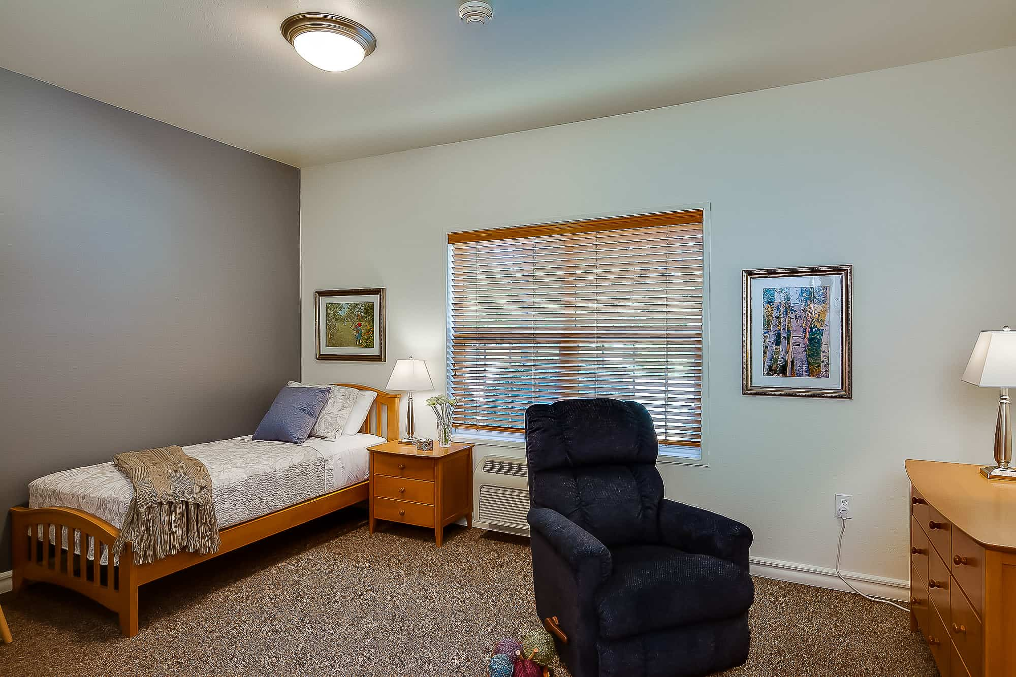 Furnished Bedroom at Mennonite Village