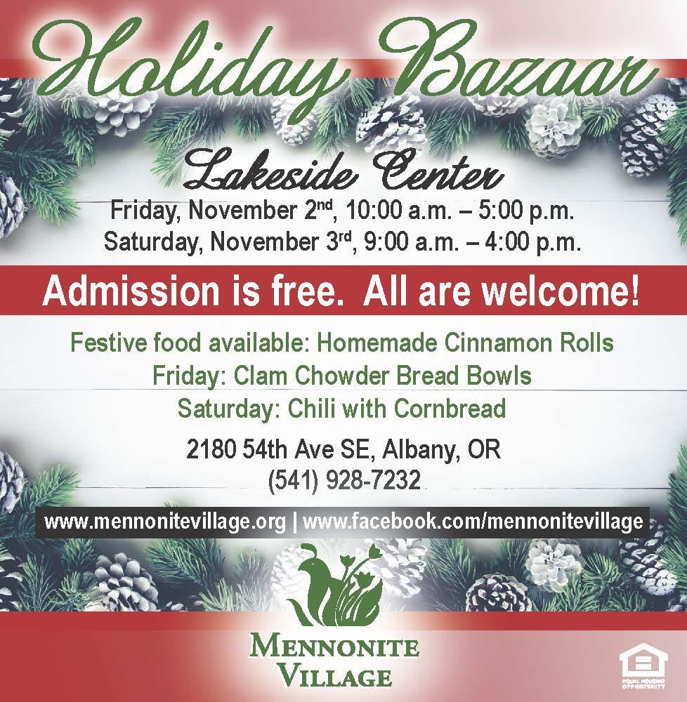 Holiday Bazaar at Mennonite Village in Albany OR